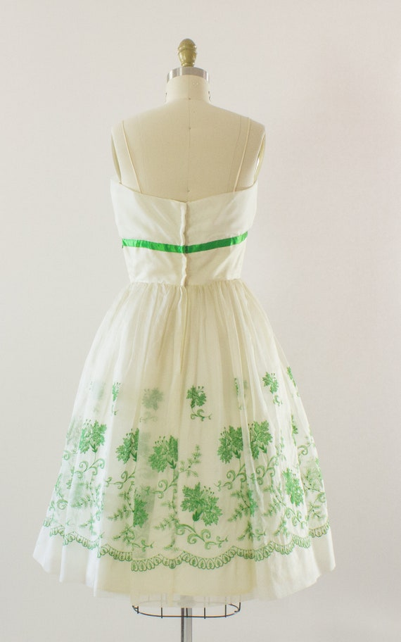 Floral 1950s Party Chiffon 26W 34B Dress Small rrZd6x