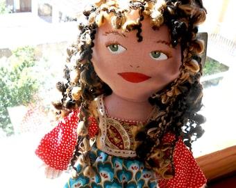 Telma, Hippy ragdoll - Vintage dress