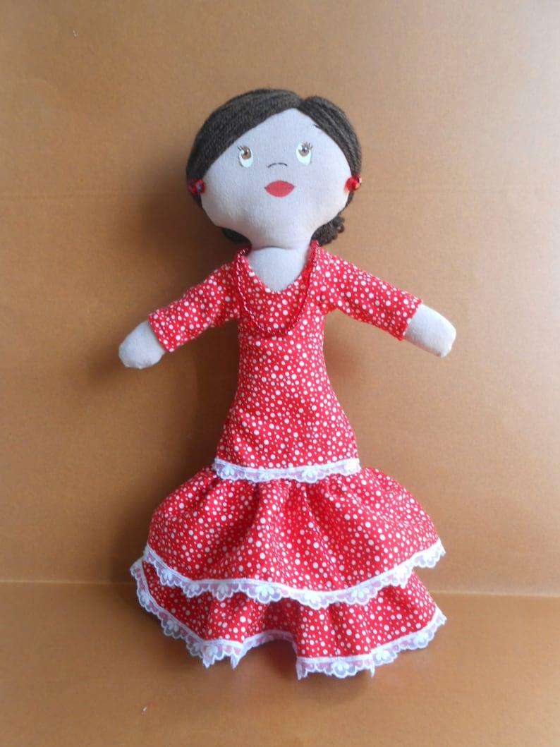 Flamenca De Trapo Muñeca Gitana Andaluza Etsy