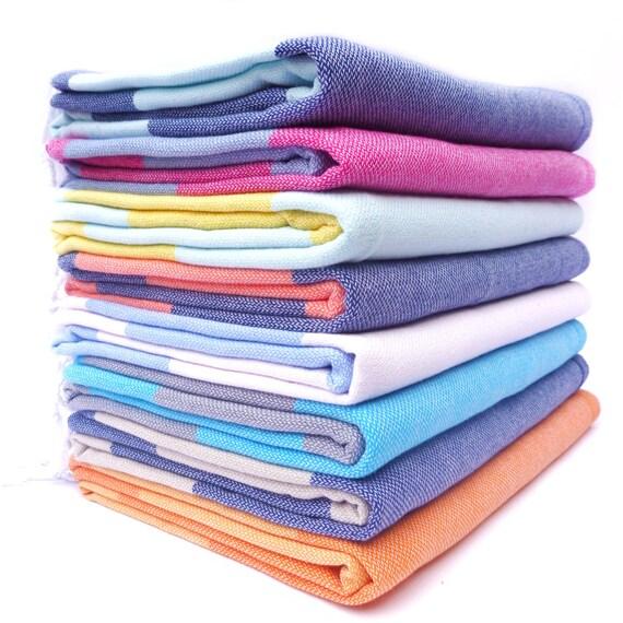 Set Of 3 Adventure Travel Towels Turkish Towel 100% Cotton