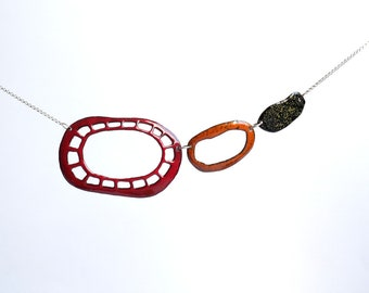 Nature inspiration Jewelry, contemporary jewelry, organic shape pendant, diatom pendant, marine biology pendant, sea, ocean inspired pendant,