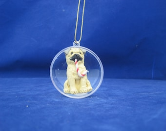 One of a Kind Pug Christmas Ornament