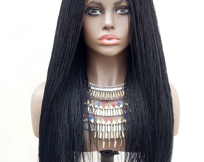 "Handmade Braided 360 Lace Needle Senegalese Twist colour 1 20"""