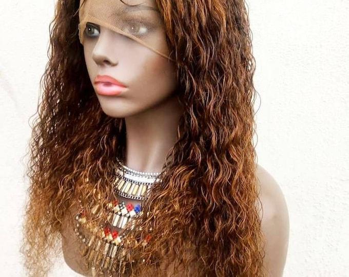 "100% Human Hair Handmade Micro Tiny Micro Braids Full lace wig Pick n Drop 20"" Custom colour"