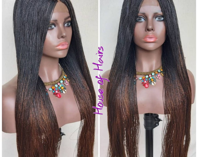 Handmade Braided Closure Crochet Wig Strandz Twist ombre 1/30 Auburn 24""