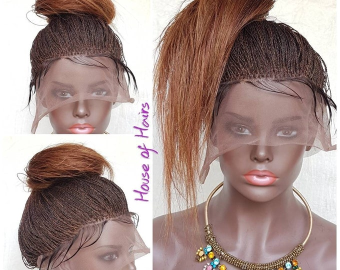 Handmade Braided 360 Lace Wig Million Senegalese Twist colour 1b/27/30 14-16""