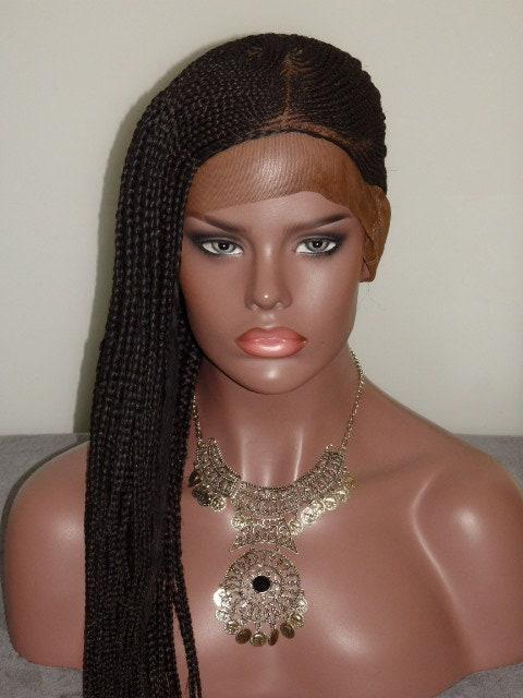 Braided Full Lace Wig Lemonade Braids Cornrow Ghana Weave