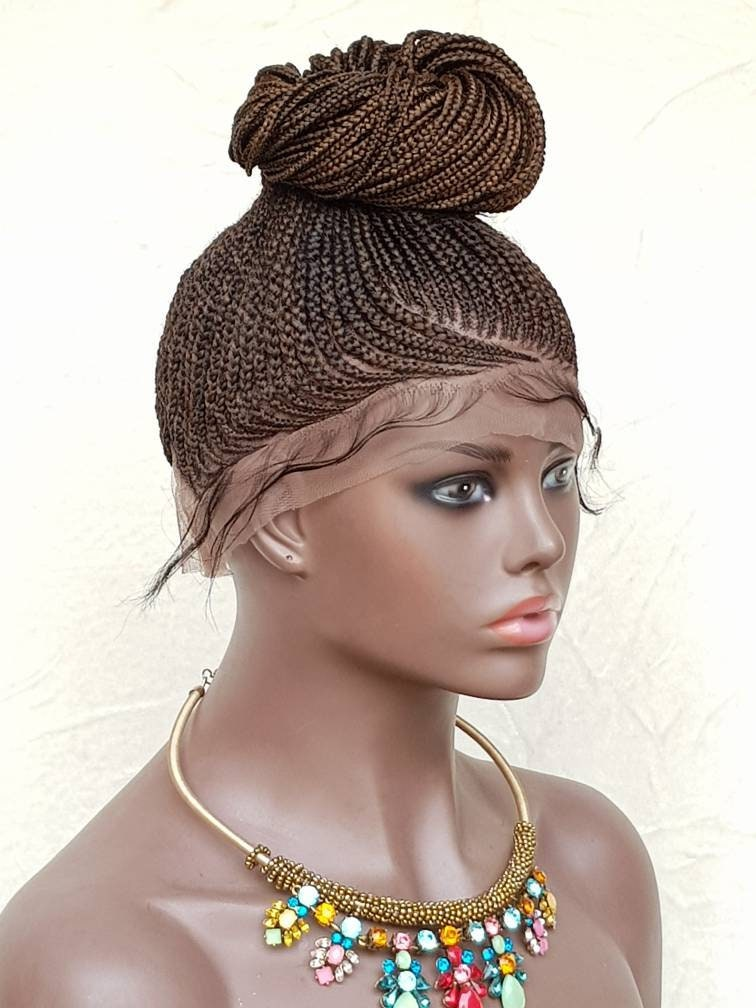 Braided Full Lace Wig Ponytail Updo Braids Cornrow Ghana