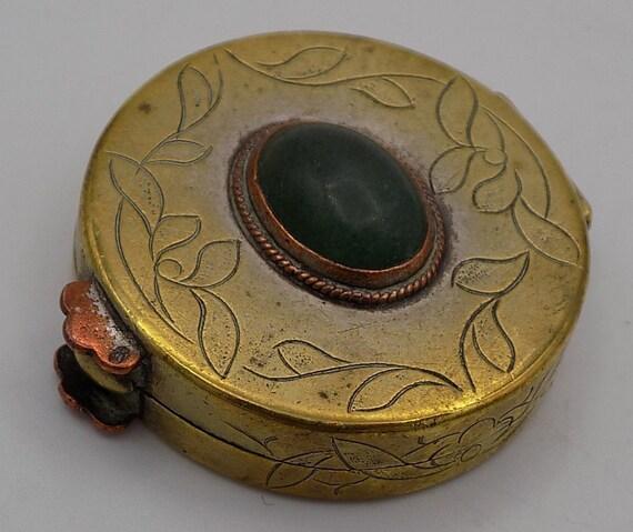 Vintage Sacred Geometry Photo Cabochon Verre Bronze Chaîne Collier Pendentif