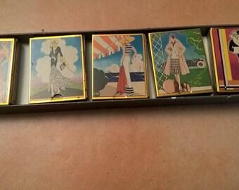 Vintage box box art deco fashion