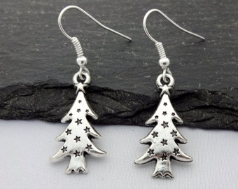 8500d0825 Tree Earrings, Christmas Earrings, Christmas Jewellery, Xmas Earrings,Christmas  Tree Earrings,Charm Jewelry,Gifts,Xmas Gift,Stocking Fillers