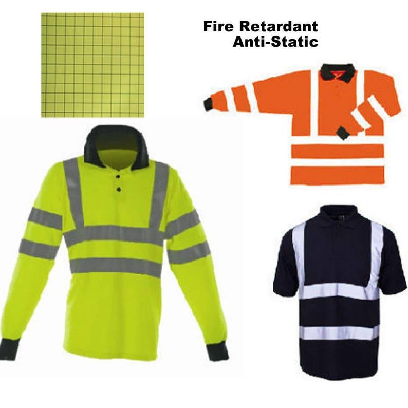 46c1872a8d5b Flame Retardant Polo Shirt Hi Vis Reflective FR AS Anti Static