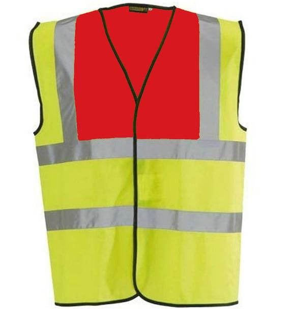 Personalised Adult High Visibility Safety Waistcoat Vest Hi Viz EN471 Jacket Vis