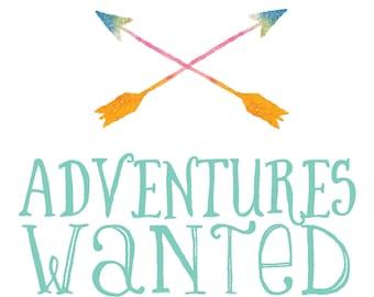Arrows Nursery Art, Adventures Wanted, Nursery Arrow Decor, Nursery Decor, Boy Room Decor