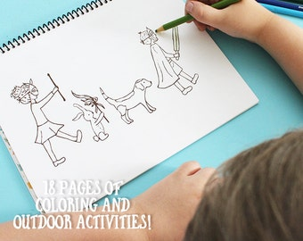 Coloring and Activity Book, Coloring Book for Kids, Activity Book, Gifts for Kids, Kids Activities