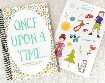 Story Starter Book Writing Set, Kids Writing Journal, Gift for young writers, Writing Book