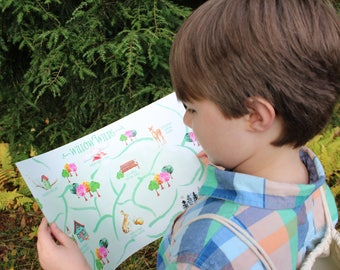 Pretend Play Map, Imaginative Play, Willow Wilds Adventure Map
