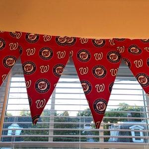Matching Pillow Cover Washington Nationals Curtain Panel Valance