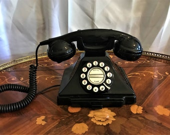 Movie Prop Vintage Kellogg 1000 Series Red Bar Black Desktop Phone Office Decor Retro Phone Courtesy Phone