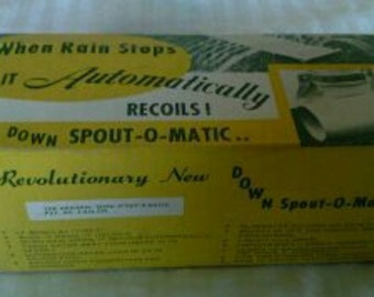 """The Vintage Revolutionary """"DOWNSPOUT-O-MATIC"""" still in box"""
