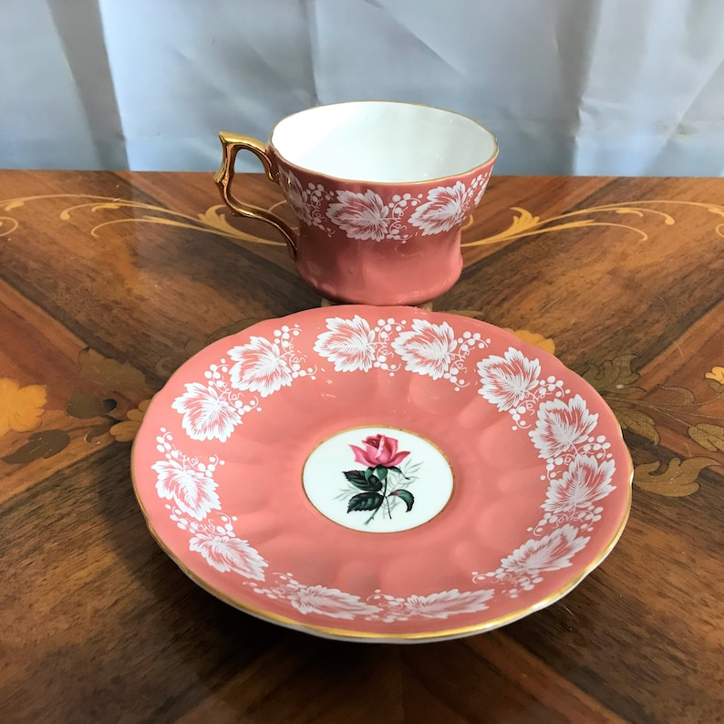 Dining And Serving Bone China Made in England Royal Windsor Fine Bone China Gold Trim Fine China Vintage Cup And Saucer Set