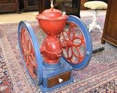 Antique 1908 Enterprise MFG Coffee Grinder, Philadelphia Pa 19 1 2 quot wheel