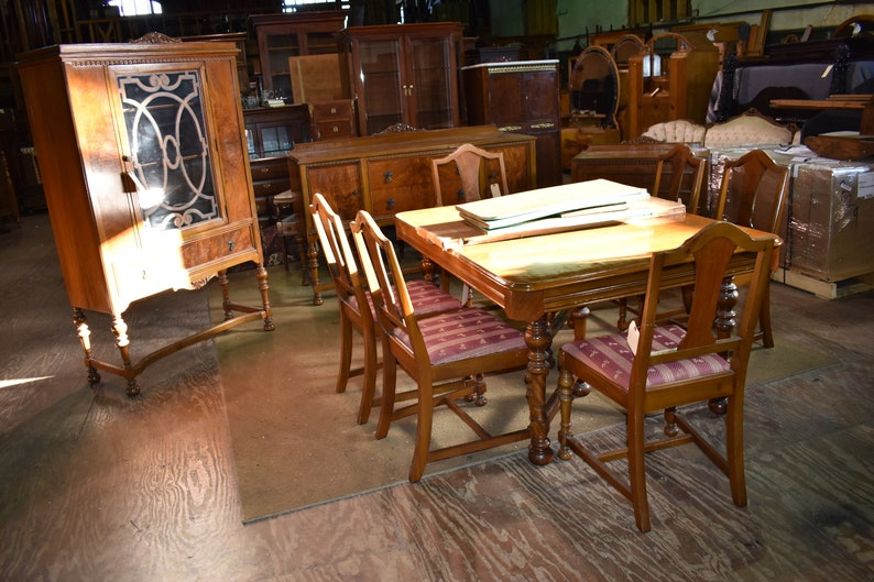 Antique Walnut Dining Room Set By J K Rishel Furniture Etsy