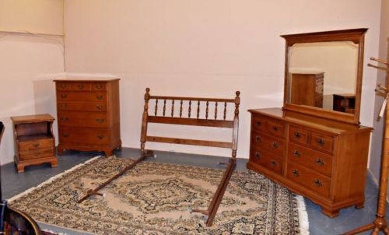 Vintage Furniture Heywood Wakefield Full Queen Bedroom Set | Etsy