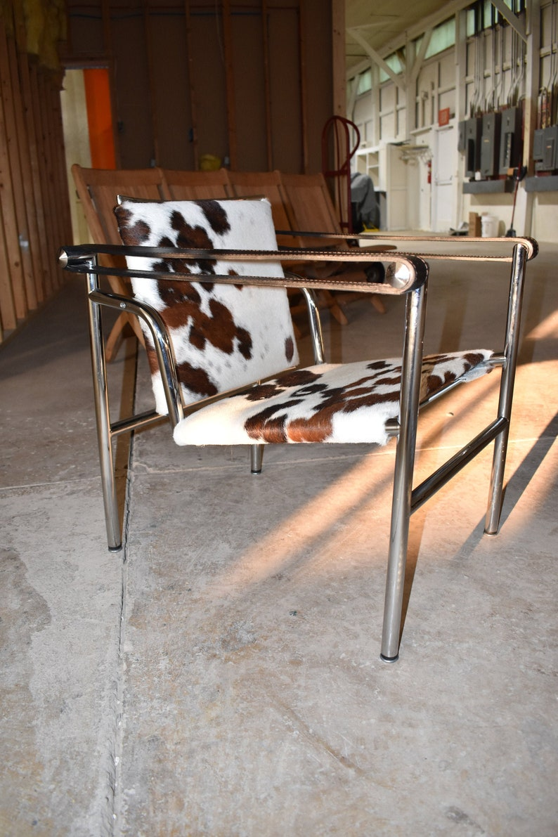 Strange Mid Century Modern Style Furniture Cowhide Sling Chair Made In Italy Evergreenethics Interior Chair Design Evergreenethicsorg