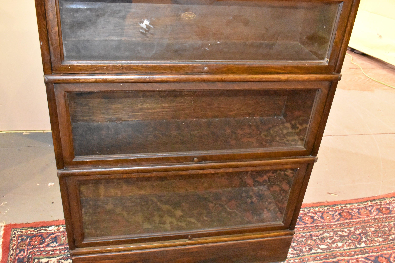 Antique Lawyer S Barrister Bookcase Display Oak Cabinet Craftsman