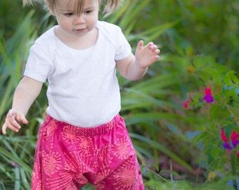 Toddler Harem Pants  2T in Pink Batik -