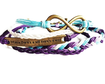 Friendship Bracelet Set of 5, Best Friend Gift, Friendship Gift, Inspirational Quote Bracelet, Infinity Bracelet, Friendship Bracelets