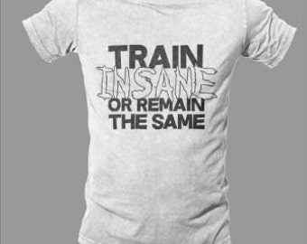 Train Insane or Remain the Same – Workout Tee – Fitness – Health - Goals