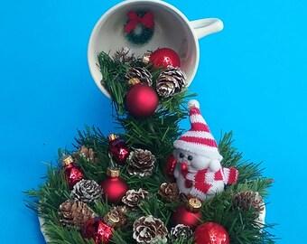 Christmas Floating Tea Cups.Fairy Garden Centerpiece Floating Cup Woodland Decor Etsy