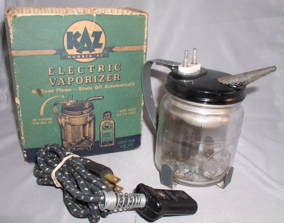 1940s kaz electric vaporizer in original box etsy