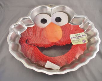 ELMO Cake Pan Sesame Street Muppets -  Wilton No. 2105-3461 - Retired - Never Used with Inser.