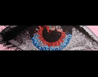 """Eye Print 6"""" x 24"""""""