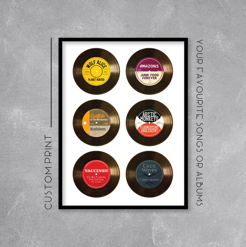 Personalised Vinyl Record Print / Poster Add your favourite image 0