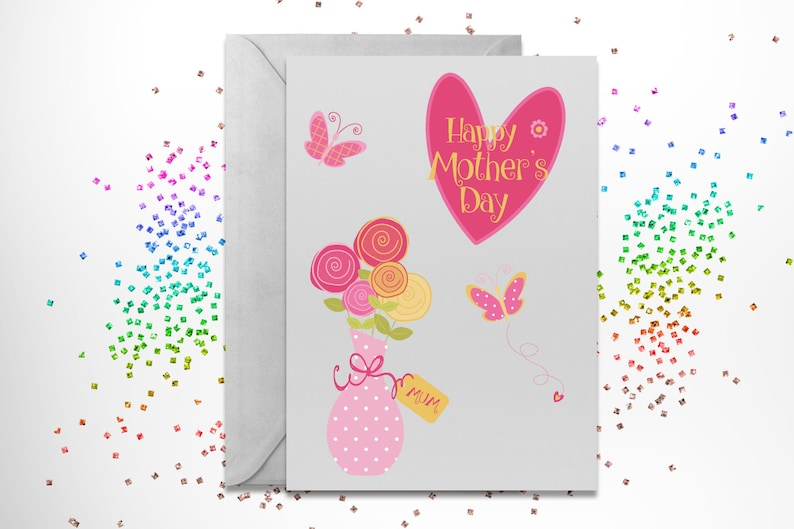 Mothers day sweet pinks digital printable clipart special mum