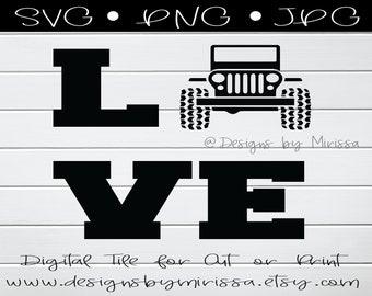 Jeep Love Etsy