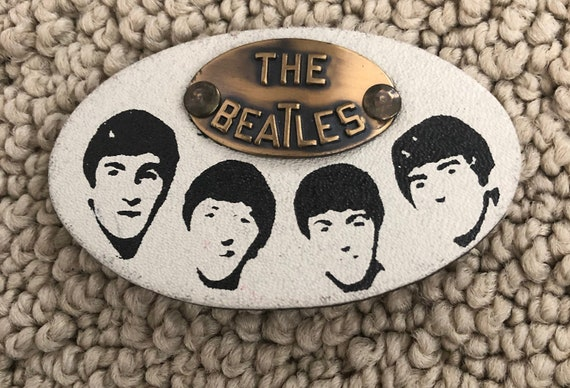 Original 1964 Beatles Leather Pin Back Button....R