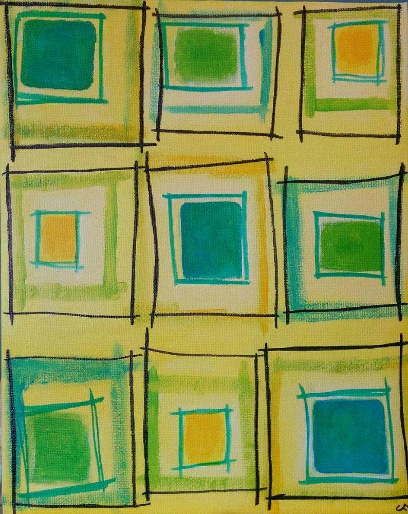 Original Painting on Canvas 8x10 Outsider Folk Art Acrylic image 0