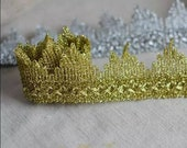 3 Yards Silver Gold Lace Applique Sewing Trims DIY Crafts Gold Lace 4cm