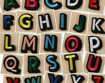 Applique letters etsy