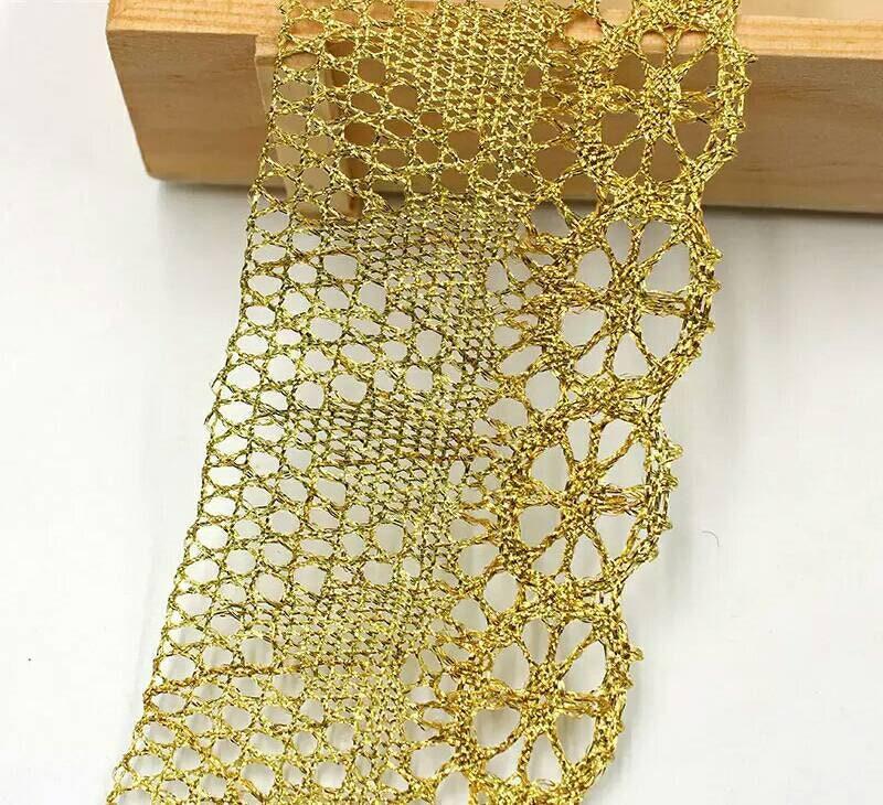 10 inch Sequin Fringe 5 Yards Antique Gold