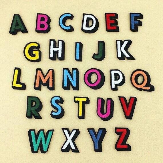 1 Farbe Buchstaben Alphabet Eisen auf oder Nähen auf Patch   Etsy