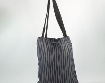 42484c6363a Platte zak, tas voor winkelen, tas van Commissie, kruidenier zak, tas alle  doel, eenvoudige zak, tas met riem, stof Zebra zwart
