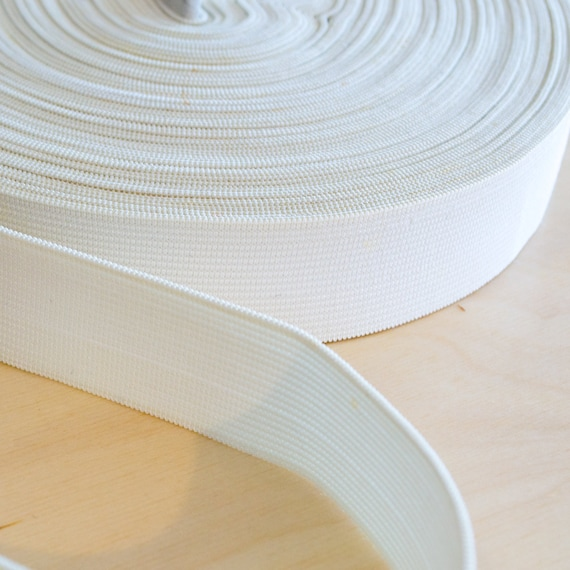 General Purpose Knitted Elastic White 32mm