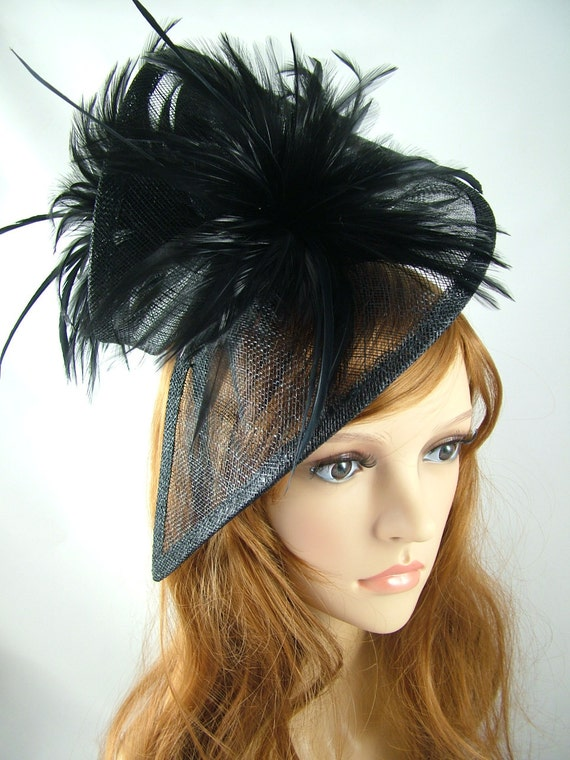 Hair fascinator in a twisted cream sinamay for weddings races and occasions
