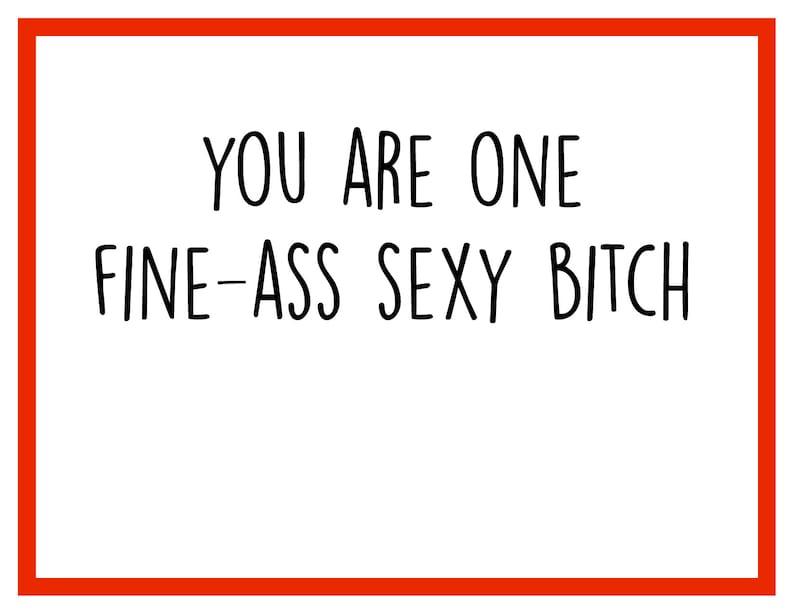Fine Ass Bitch LGBTQ Card